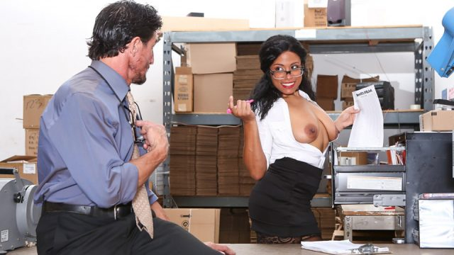 Big Tit Office Chicks, with Quinn Quest and  Tommy Gunn from Devils Film