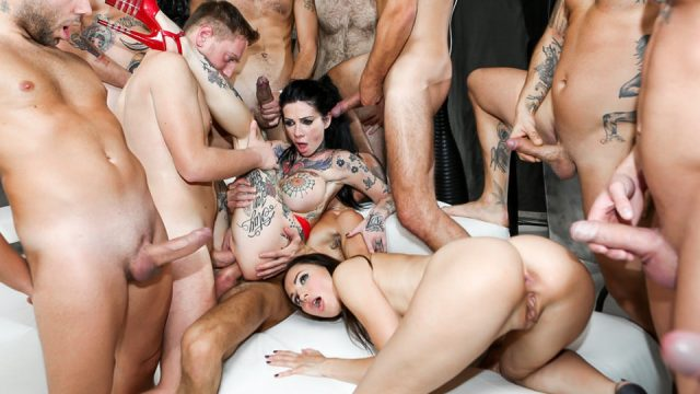 Rocco Siffredi Hard Academy with Lilu Moon and  Lady Dee from Evil Angel